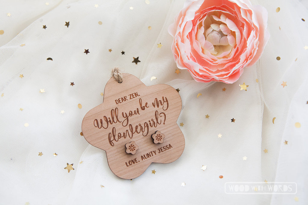 Wedding Asking Earrings + Personalised Ornament Combo