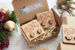 Christmas Wooden Stud Earrings - Wood With Words