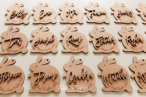 Easter Bunny Wooden Ornament - Wood With Words