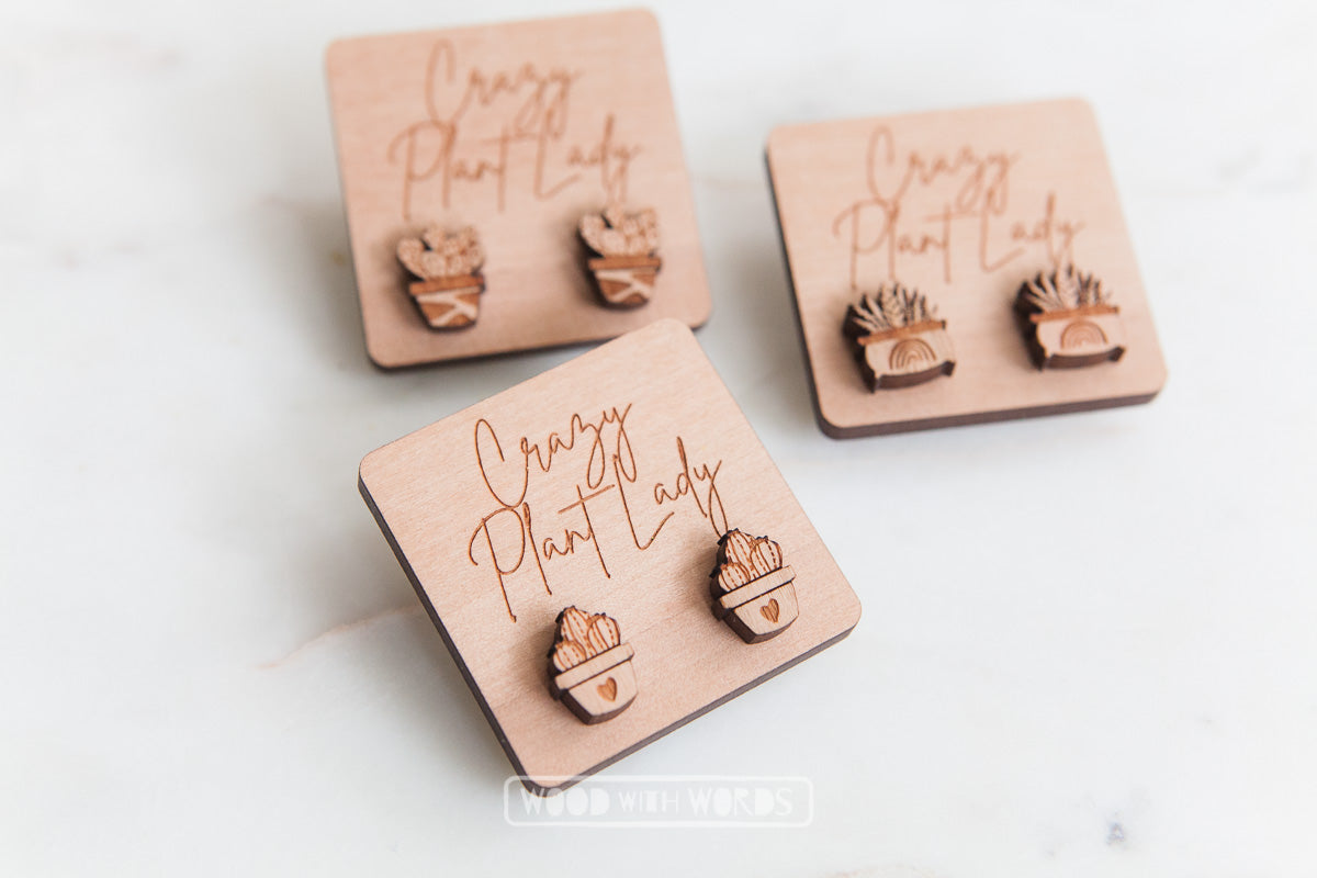 Message Tags for Crazy Plant Lady - Wood With Words