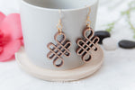 Infinity Wooden Dangle Earrings - Wood With Words