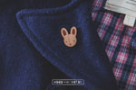 Bunny Rabbit Wooden Pin - Wood With Words