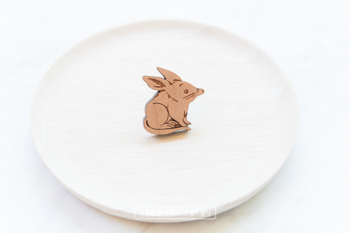Bilby Wooden Pin - Wood With Words