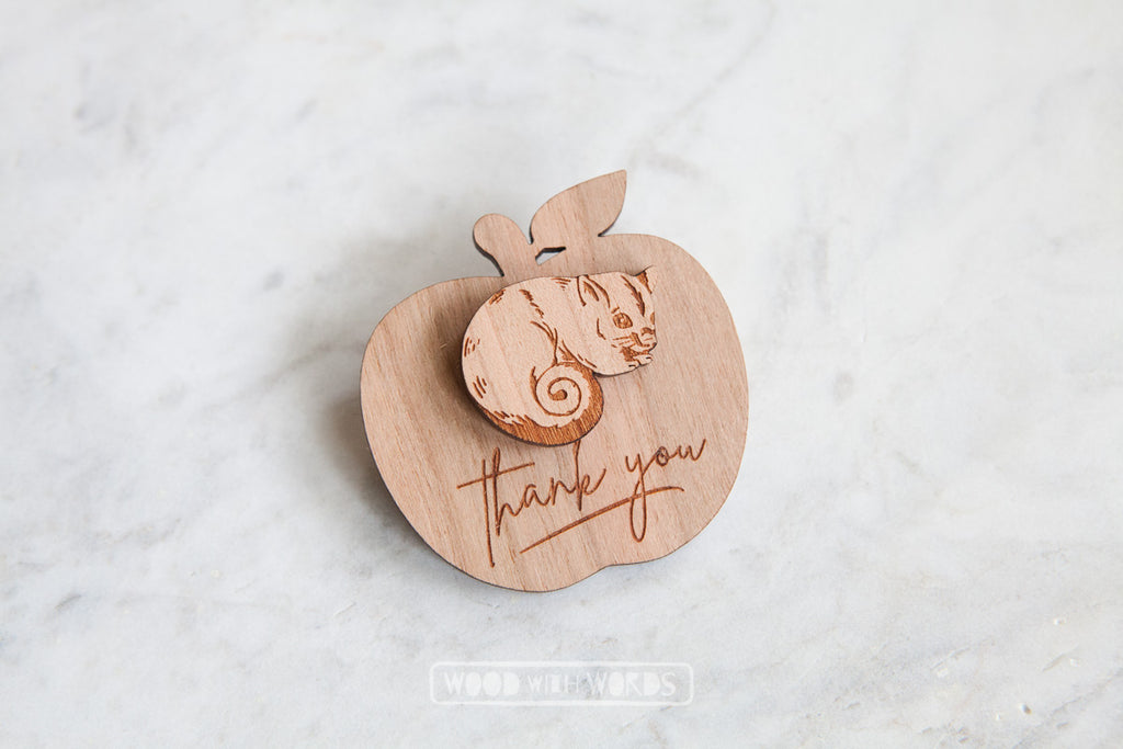 Ringtail Possum Wooden Pin - Wood With Words