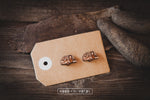 Retro Camper Wooden Stud Earrings - Wood With Words