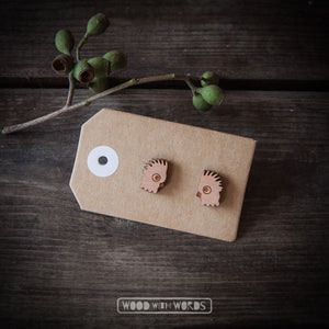 Cockatoo Wooden Stud Earrings - Wood With Words