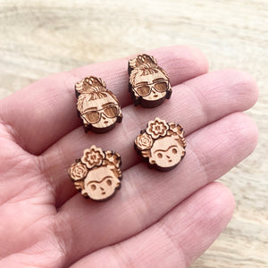 Audrey Wooden Stud Earrings - Wood With Words