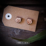 Tasmanian Devil Wooden Stud Earrings - Wood With Words