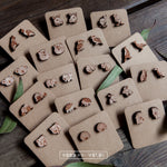 Fairy Penguin Wooden Stud Earrings - Wood With Words