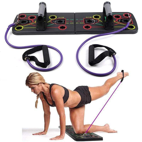 13 in 1 Push Up Rack Board With Resistance Band