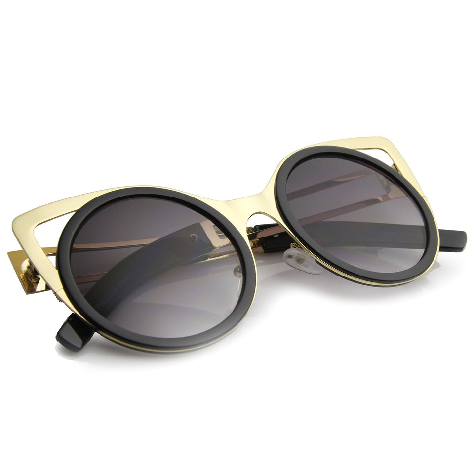 ROUND CAT EYE SUNGLASSES 50MM