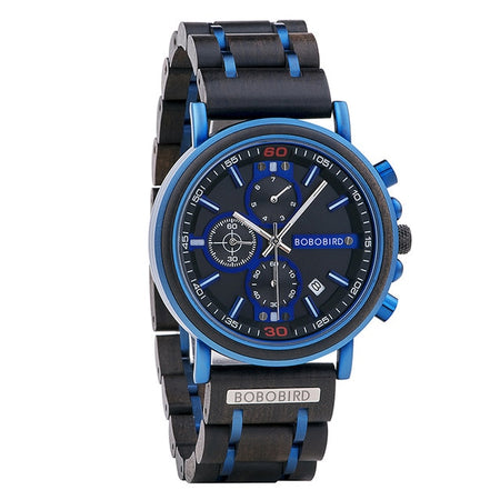 Wood Watch Blue Print WO750-1