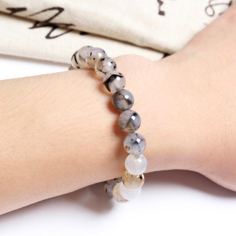 NATURAL TOURMALINATED QUARTZ BRACELET