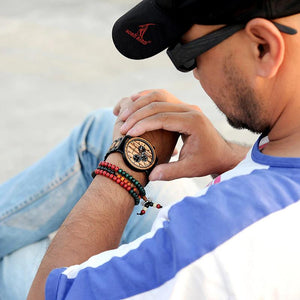 BAND R-85 STRAP WOODEN STYLE (WATCH)
