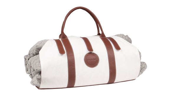 Full Body Support Pillow Gray + Carry-Tote