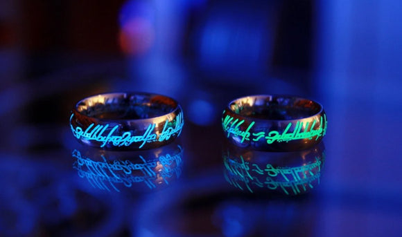 Silver One Ring LOTR Glow in the Dark / Lord of the Rings / Precious ring / Stainless Steel / Precious ring / Available in Solid Gold /