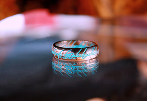 Lord of The Rings Ring / LOTR ONE Ring / Rose Gold on Silver / Glow in the Dark / Precious ring / Available in Solid Gold /