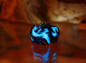 Bleu Dragon Ring Glow in the Dark / Stainless Steel Ring /