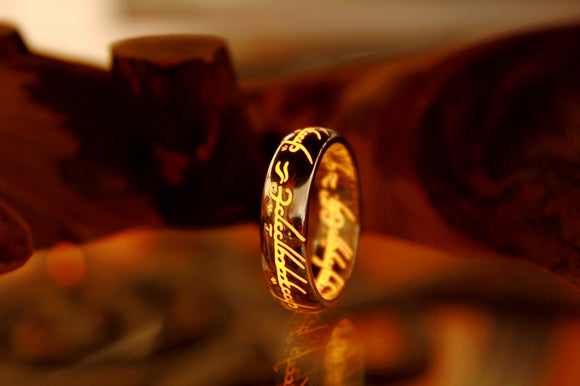 Lord of The Rings Gold / LOTR Ring / Sterling Silver 925 Gold Plated / The Hobbit / Glow in the Dark / Precious ring / Available in Solid Gold /