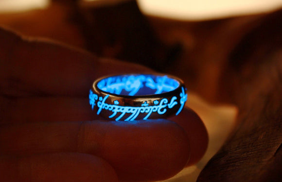 Lord of The Rings Silver /  LOTR Ring /  Sterling Silver 925 ONE ring / Glow in the Dark / Precious ring / Available in Solid Gold /