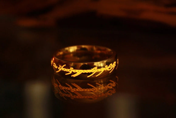 Lord of The Rings Ring / LOTR Ring / One Ring / Sauron's Ring / Ring of Power / Stainless Steel Ring / Gold Ring