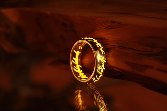 Solid Gold Lord of the Rings / Gold ONE Ring 10k / Precious Ring /  LOTR Ring /