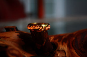 Gold One Ring Glow in the Dark / Gold Spinner Ring / LOTR / Elvish Ring / Precious ring / Stainless Steel Ring / The Hobbit