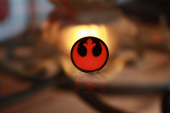 Star Wars Pin / Glow in the dark Red / Rebel Alliance Pin / Stainless Steel Pin /