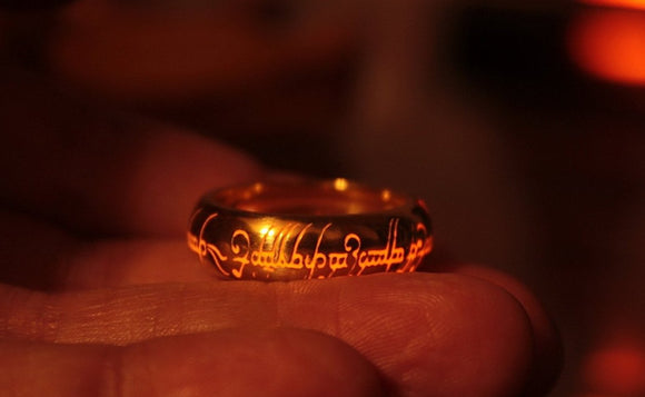 Gold plated Sterling Silver ONE Ring / Glow in the Dark / Lord of the Rings / LOTR / Precious ring / Lord of the Rings / Precious ring / Available in Solid Gold /