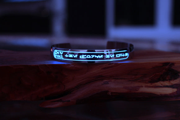 Star Wars Bracelet Glow in the Dark / Stainless Steel Bracelet /