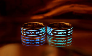 Star Wars Ring Glow in the Dark / Stainless Steel Ring /