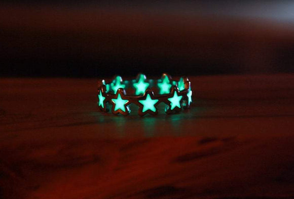 Stars Ring Glow in the Dark / Stainless Steel Ring /