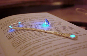 Lotus Bookmark Glow in the Dark / Flower Bookmark / Purple Lotus / Blue Lotus /