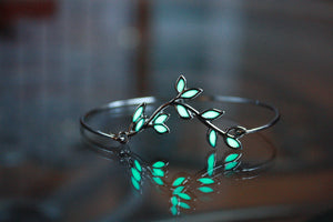 Leaves branch Bracelet Glow in the Dark / Leaf Bracelet / Leaves Glow Bracelet /