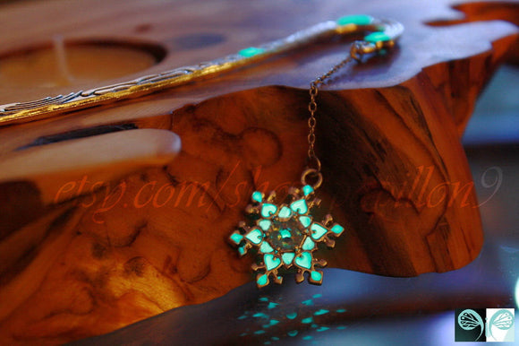 Snowflake Bookmark Glow in the Dark / Luminous Bookmark /