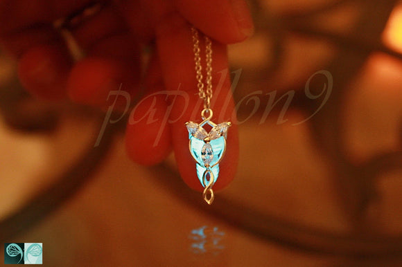 Angel Pendant Glow in the Dark / Sterling Silver Small Angel Necklace / Elfic /