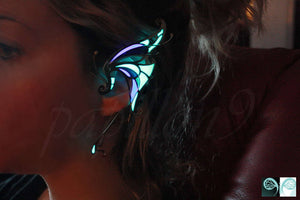 Butterfly Ear Cuff Glow in the Dark / Silver Ear Cuff / Ear Clip /