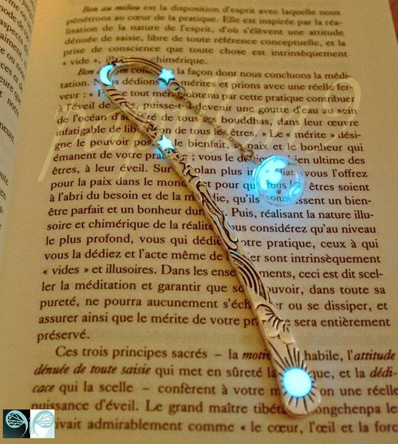 Mustard Seed Bookmark Glow in the Dark / Glass Bubble Bookmark /