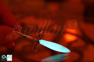 Sword Pendant Glow in the Dark / Silver Swork /