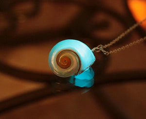 Pearly White Seashell  Pendant / GLOW in the DARK / Natural Seashell / Sea Theme /