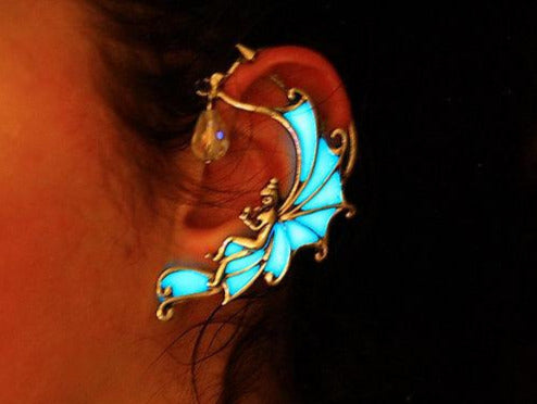 Angel Ear Cuff Glow in the Dark / Fairy Ear Cuff / Silver Ear Cuff / Gold Ear Cuff /