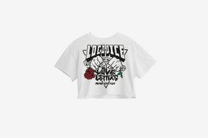 Love Letters Remix Edition Crop Top white