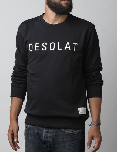 Men Sweatshirt Script Black