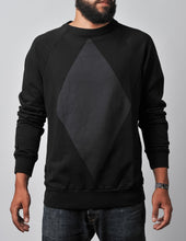Load image into Gallery viewer, Diamond Sweater black/black