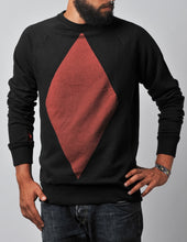 Load image into Gallery viewer, Diamond Sweater black/red