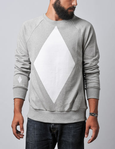 Diamond Sweater grey