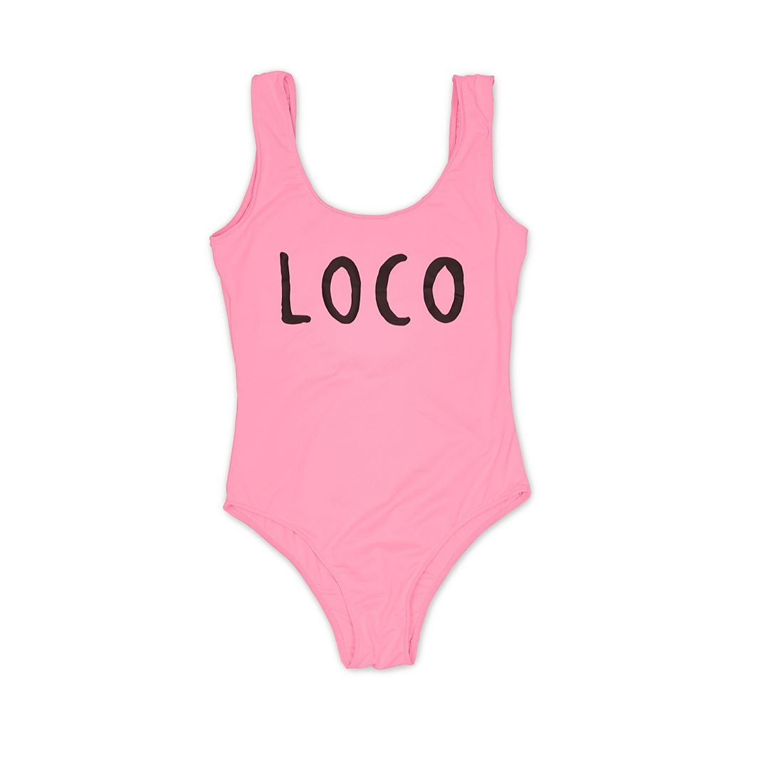 Loco Dice Bathing Suit pink