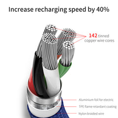 3 in 1 Micro USB Charger Cable For iPhone and Android