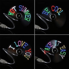 USB Powered Programable LED Fan