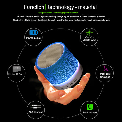 Portable LED Mini Bluetooth Speaker
